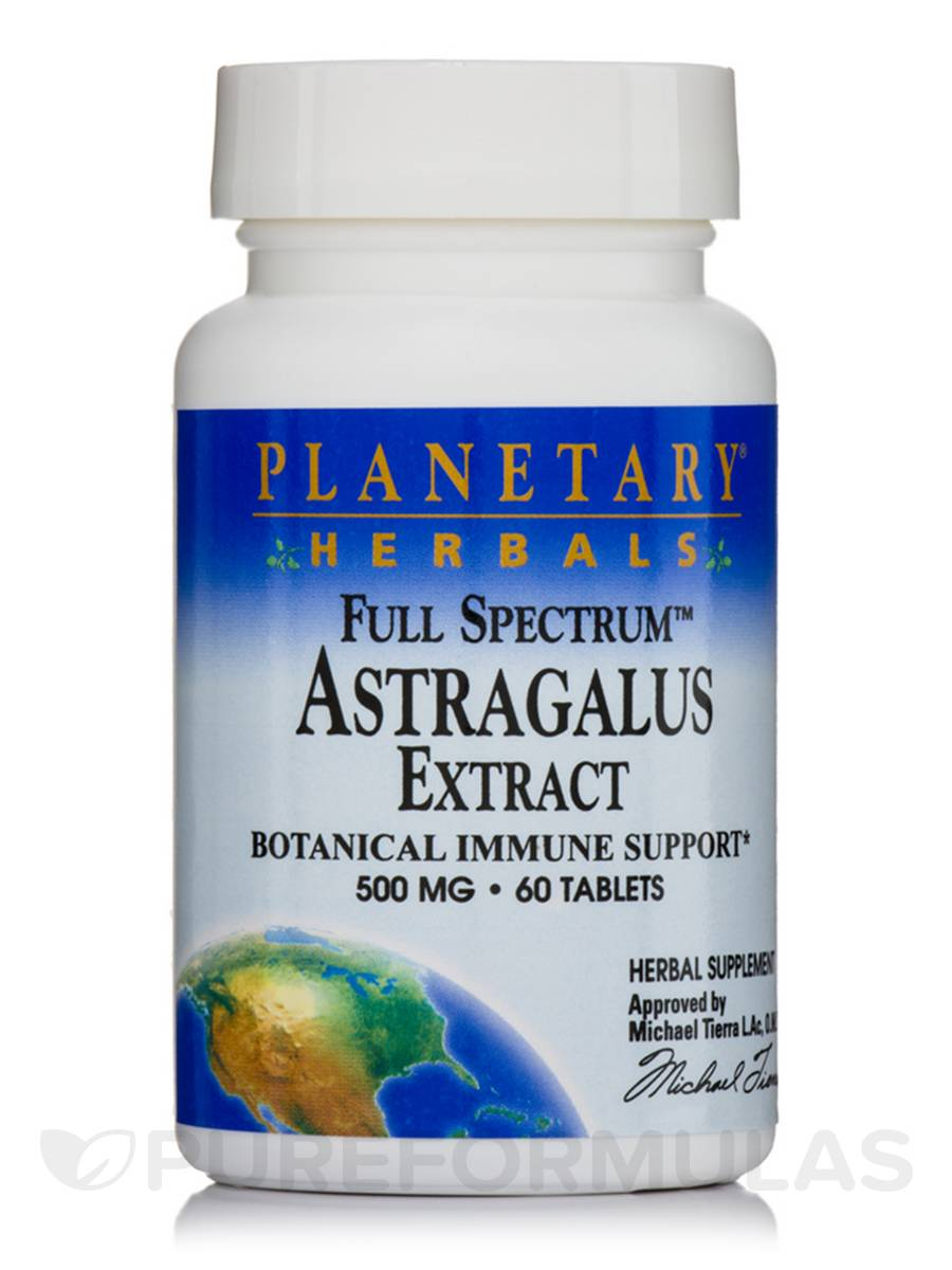 Full Spectrum Astragalus Extract 500 mg - 60 Tablets
