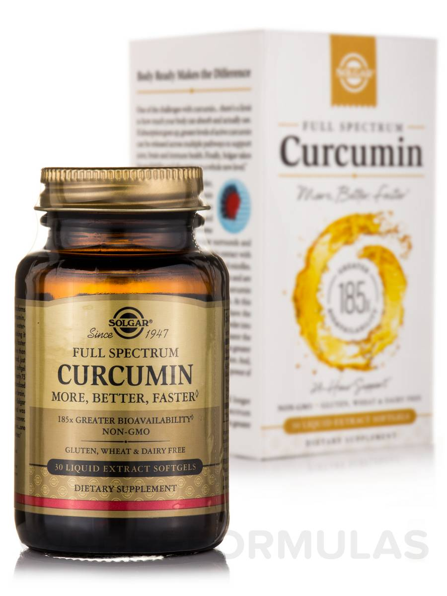 Full Spectrum Curcumin - 30 Liquid Extract Softgels