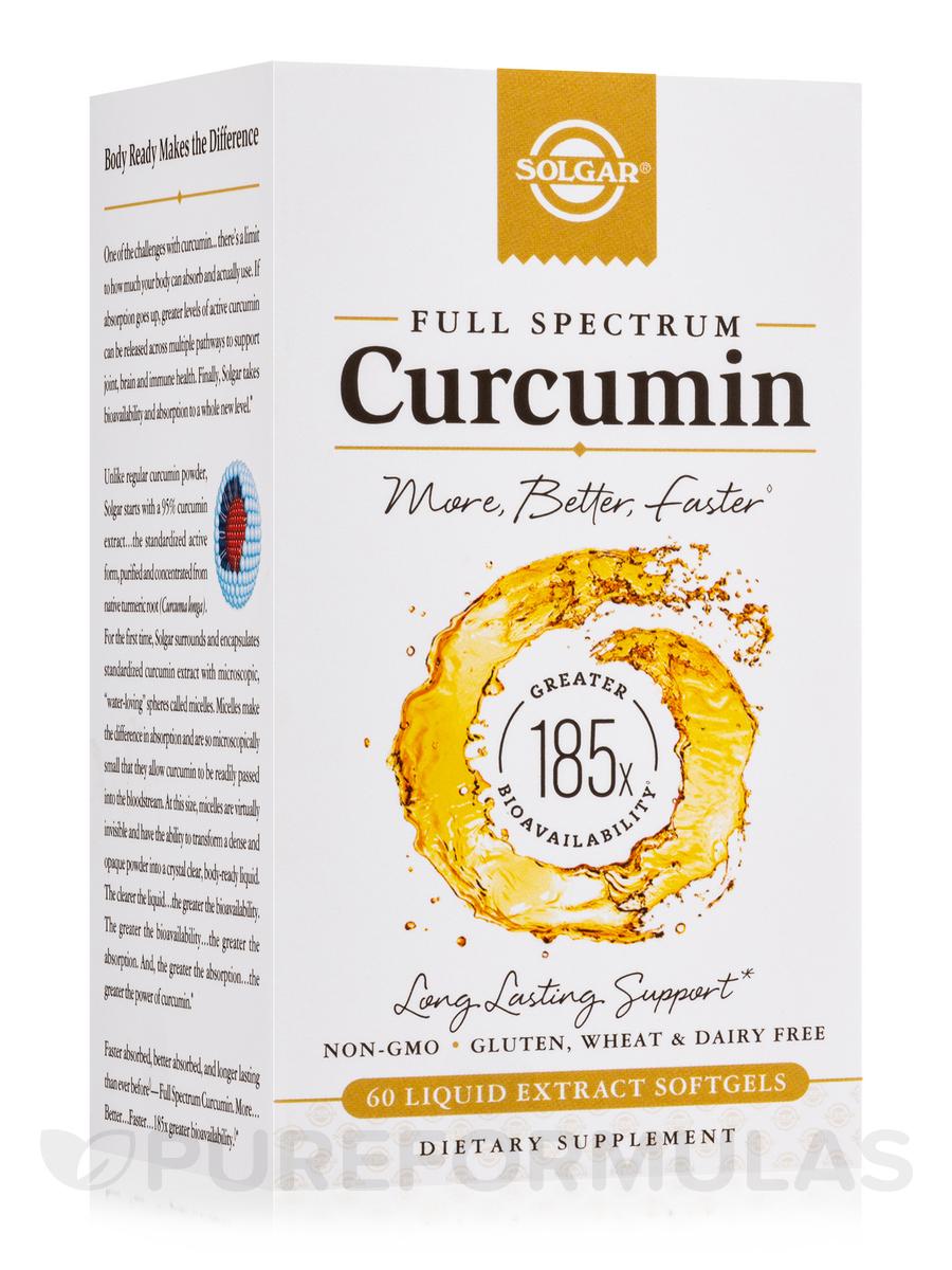 Full Spectrum Curcumin - 60 Liquid Extract Softgels