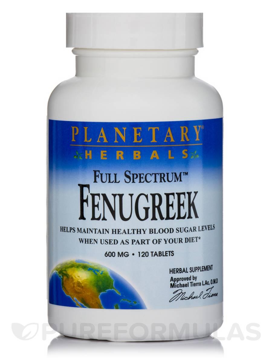 Full Spectrum Fenugreek 600 mg - 120 Tablets