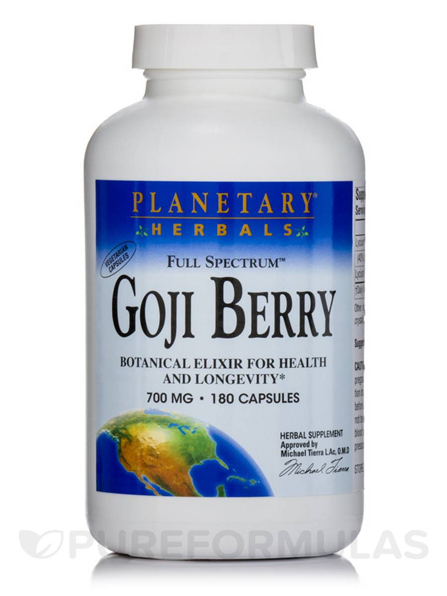 Full Spectrum Goji Berry 700 mg - 180 Vegetarian Capsules