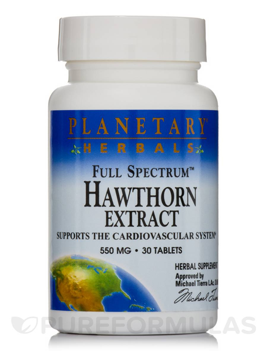 Full Spectrum Hawthorn Extract 550 mg - 30 Tablets