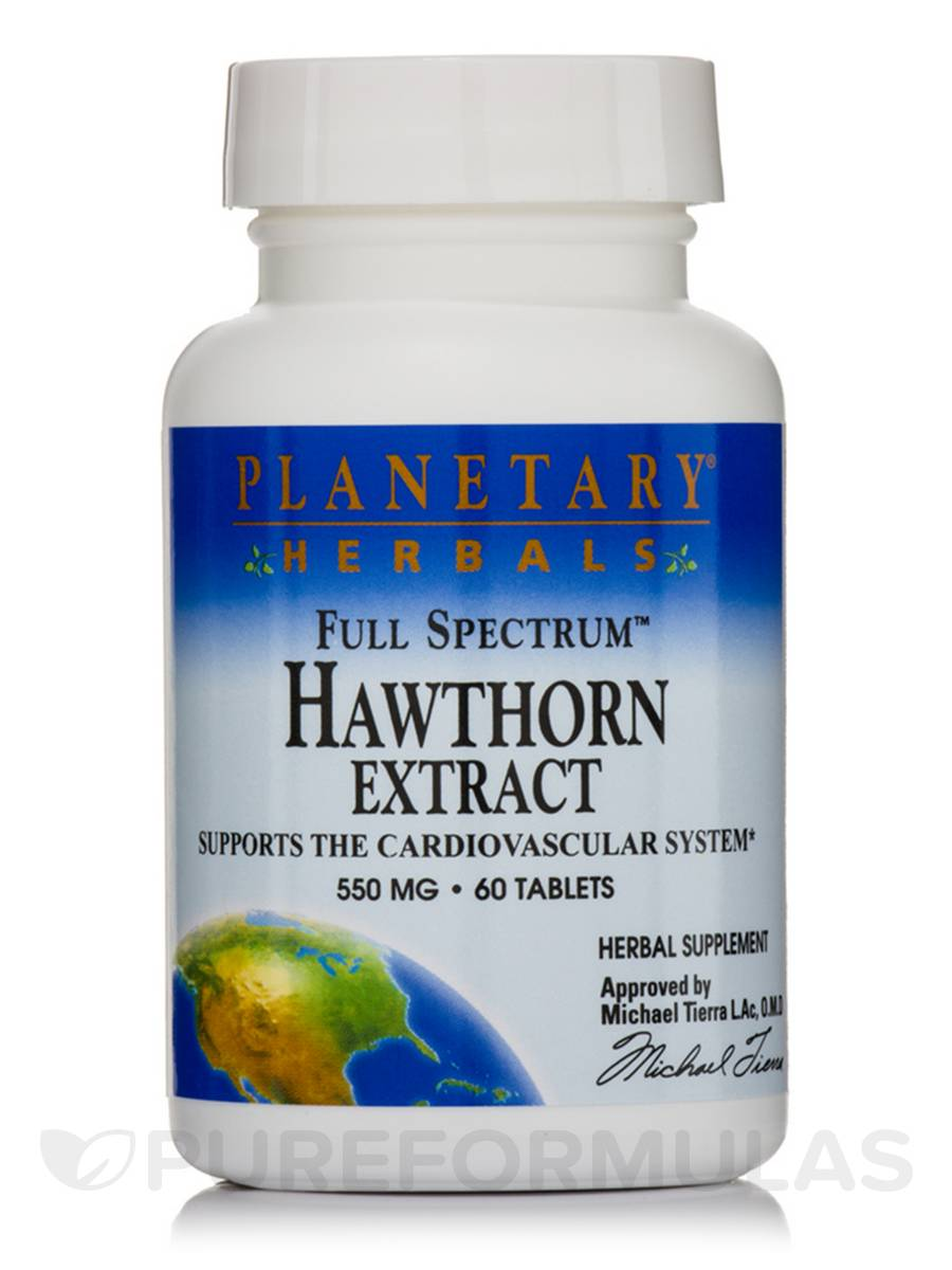 Full Spectrum Hawthorn Extract 550 mg - 60 Tablets