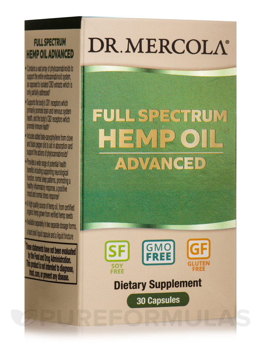 Full Spectrum Hemp Oil Advanced - 30 Capsules
