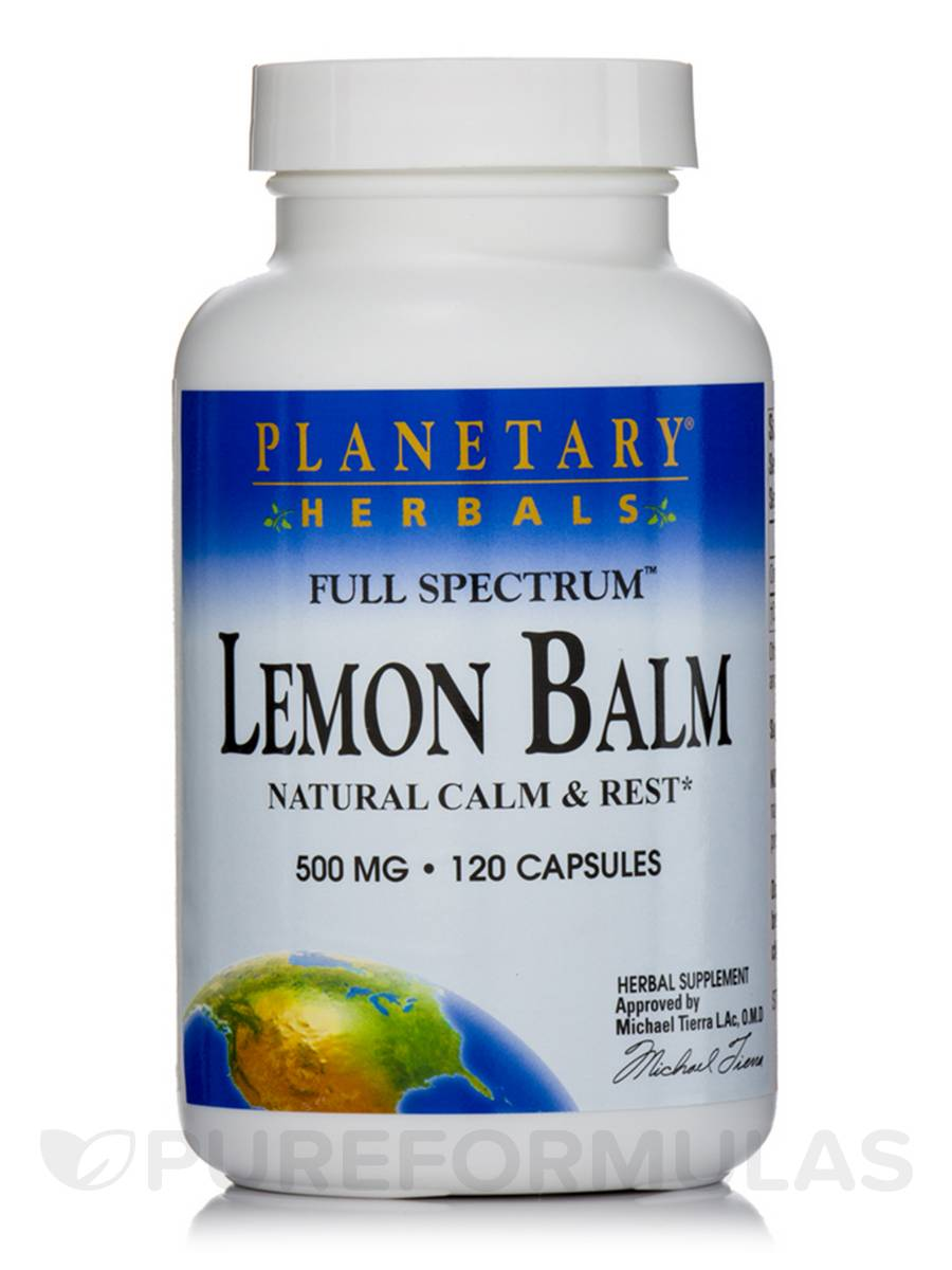 Full Spectrum Lemon Balm 500 mg - 120 Capsules