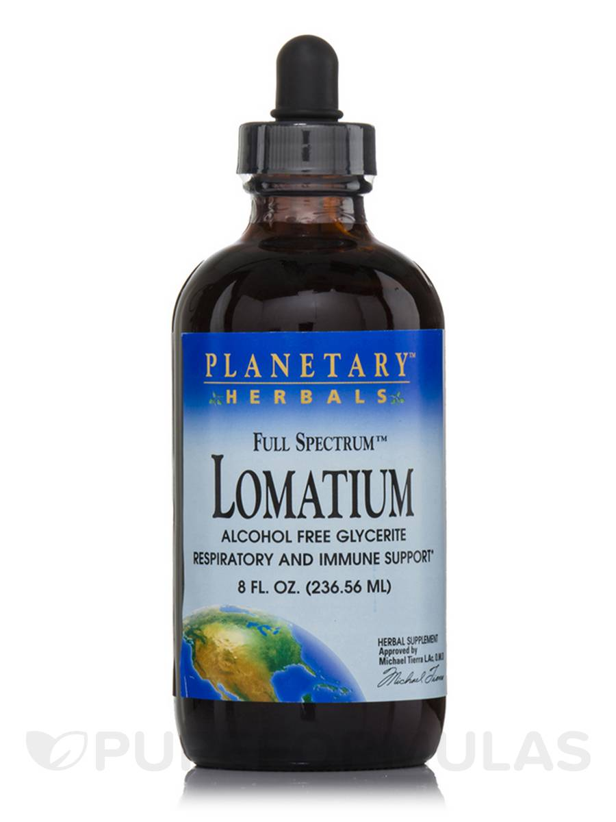 Full Spectrum Lomatium Alcohol Free Glycerite Liquid - 8 fl. oz (236.56 ml)