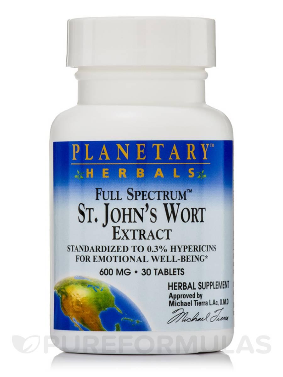 Full Spectrum St. John's Wort Extract 600 mg - 30 Tablets