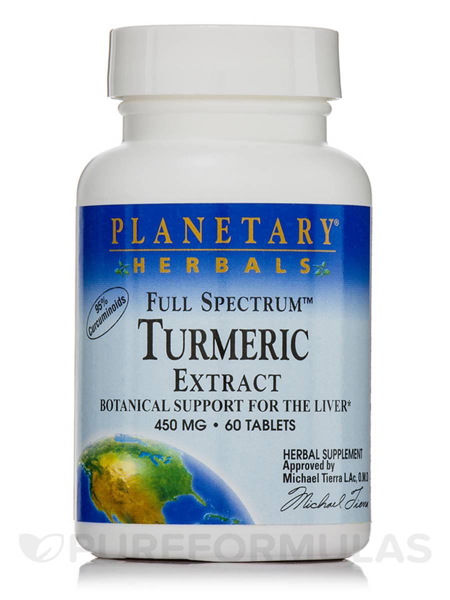 Full Spectrum Turmeric Extract 450 mg - 60 Tablets