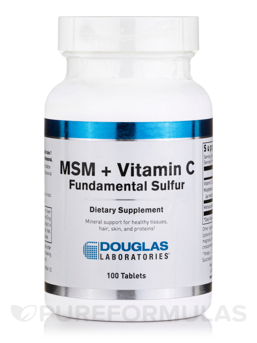 Msm Vitamin C Fundamental Sulfur 100 Tablets