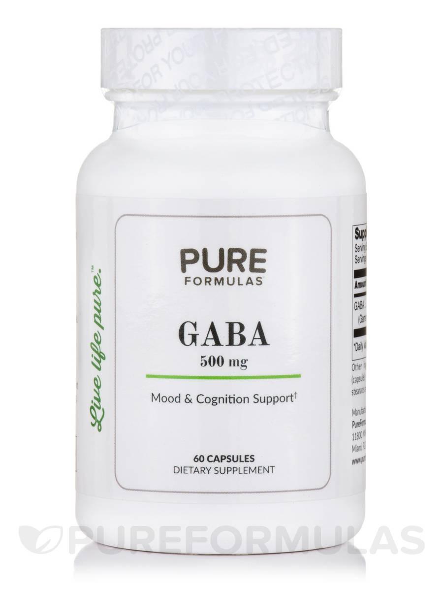 GABA 500 mg - 60 Capsules