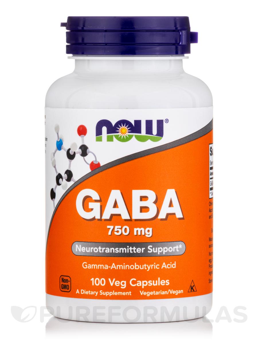 GABA 750 mg - 100 Vegetarian Capsules
