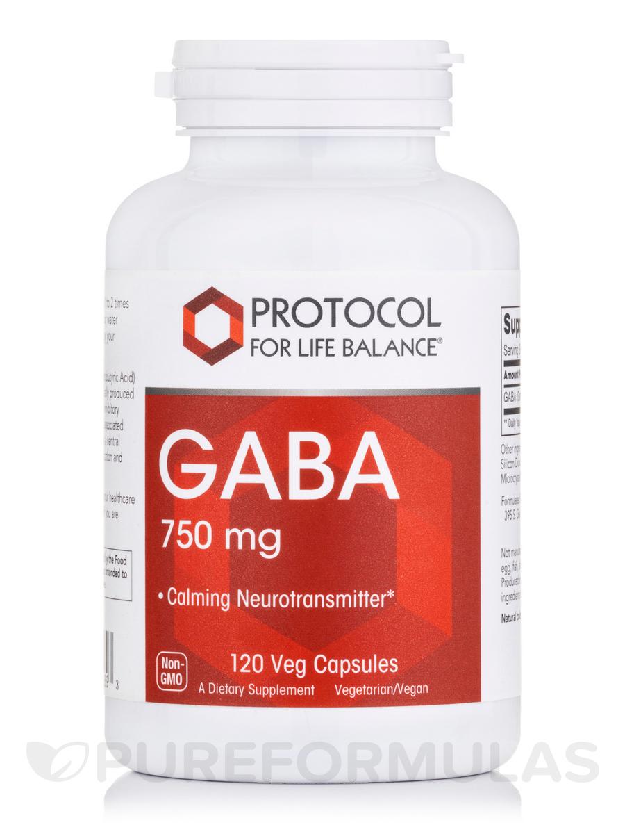 GABA 750 mg - 120 Veg Capsules