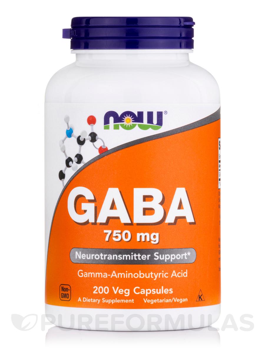 GABA 750 mg - 200 Veg Capsules