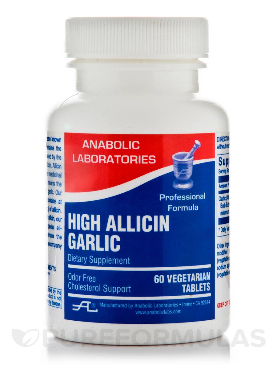 High Allicin Garlic - 60 Vegetarian Tablets