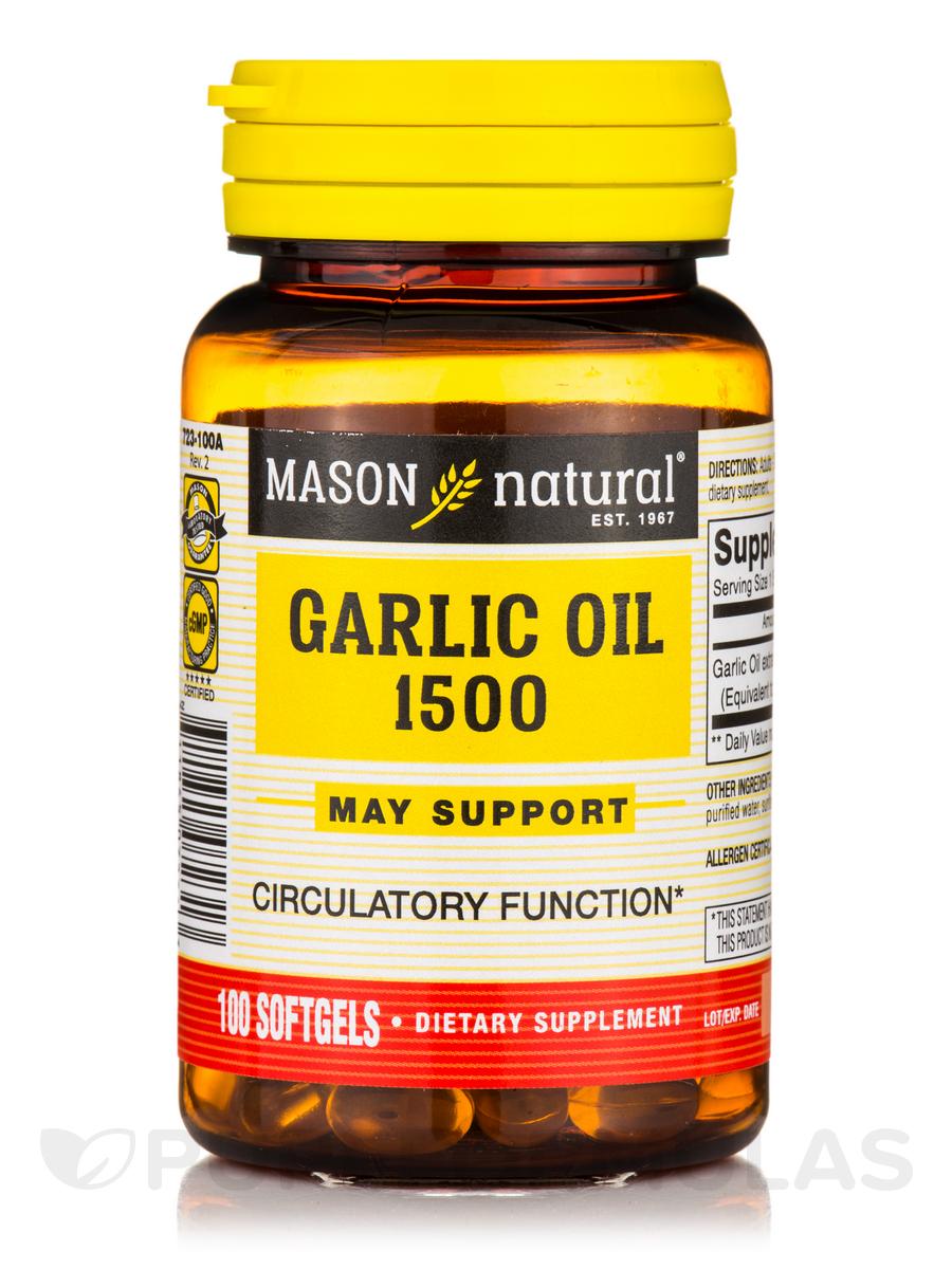 Garlic Oil 1500 - 100 Softgels