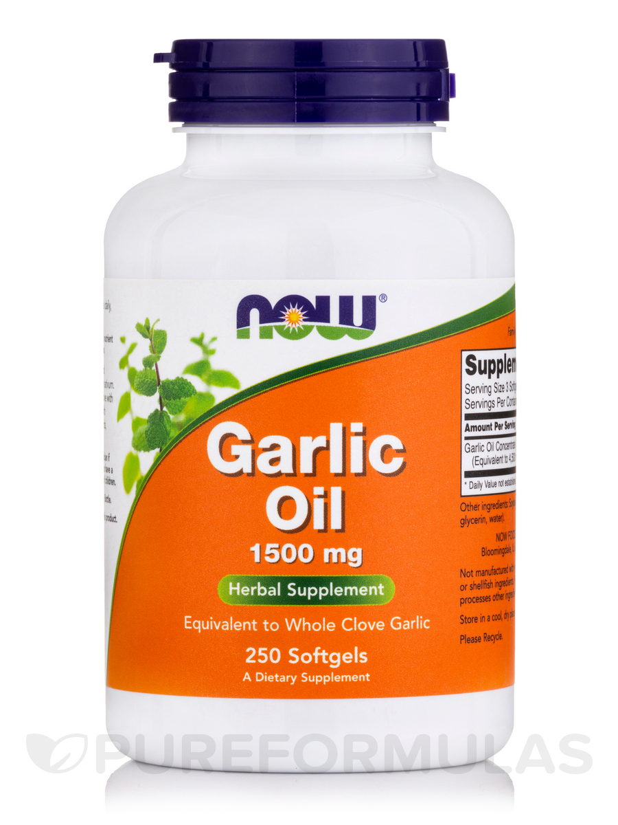 Garlic Oil 1500 mg - 250 Softgels