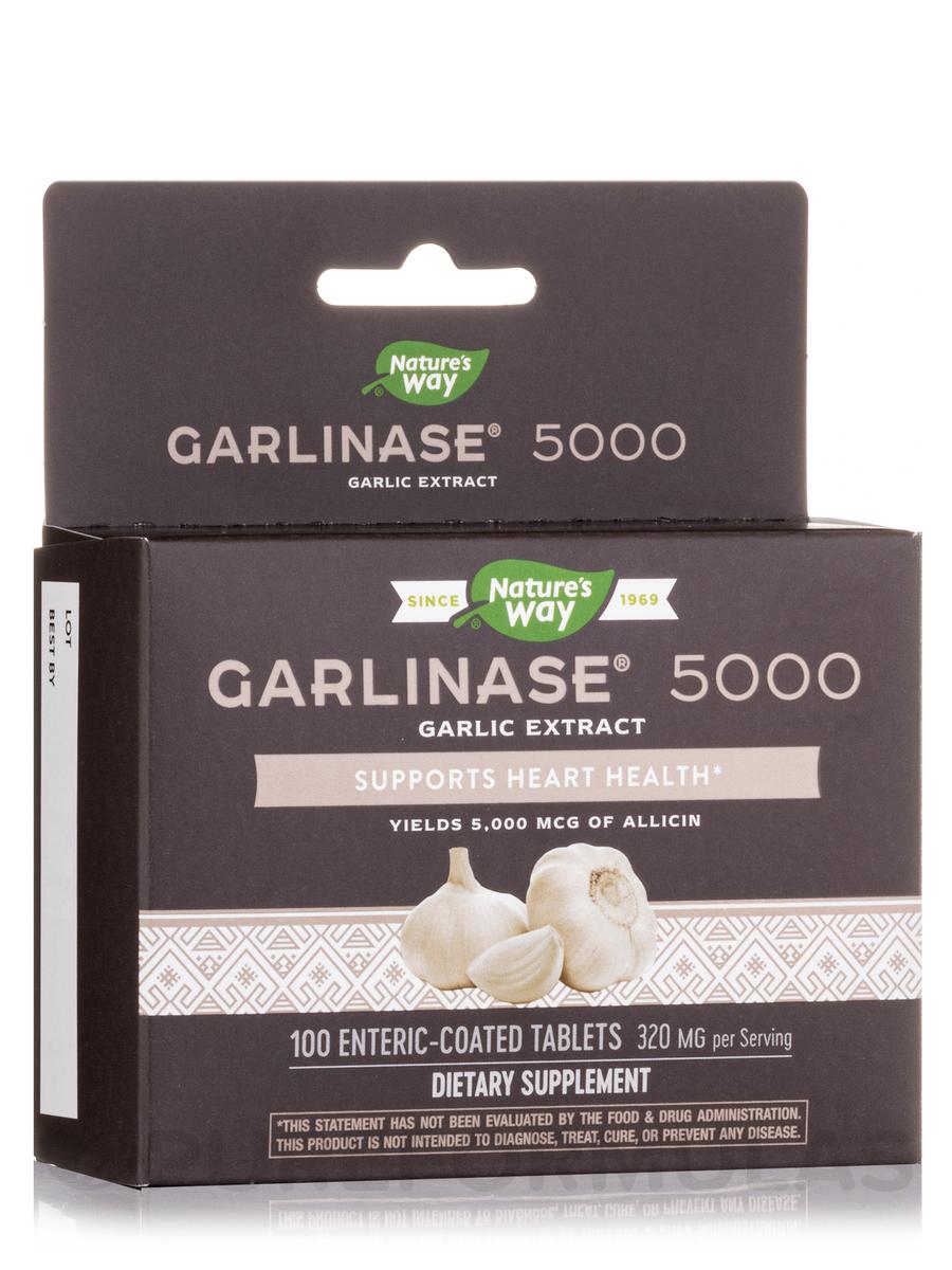 Garlinase® 5000 - 100 Enteric-Coated Tablets