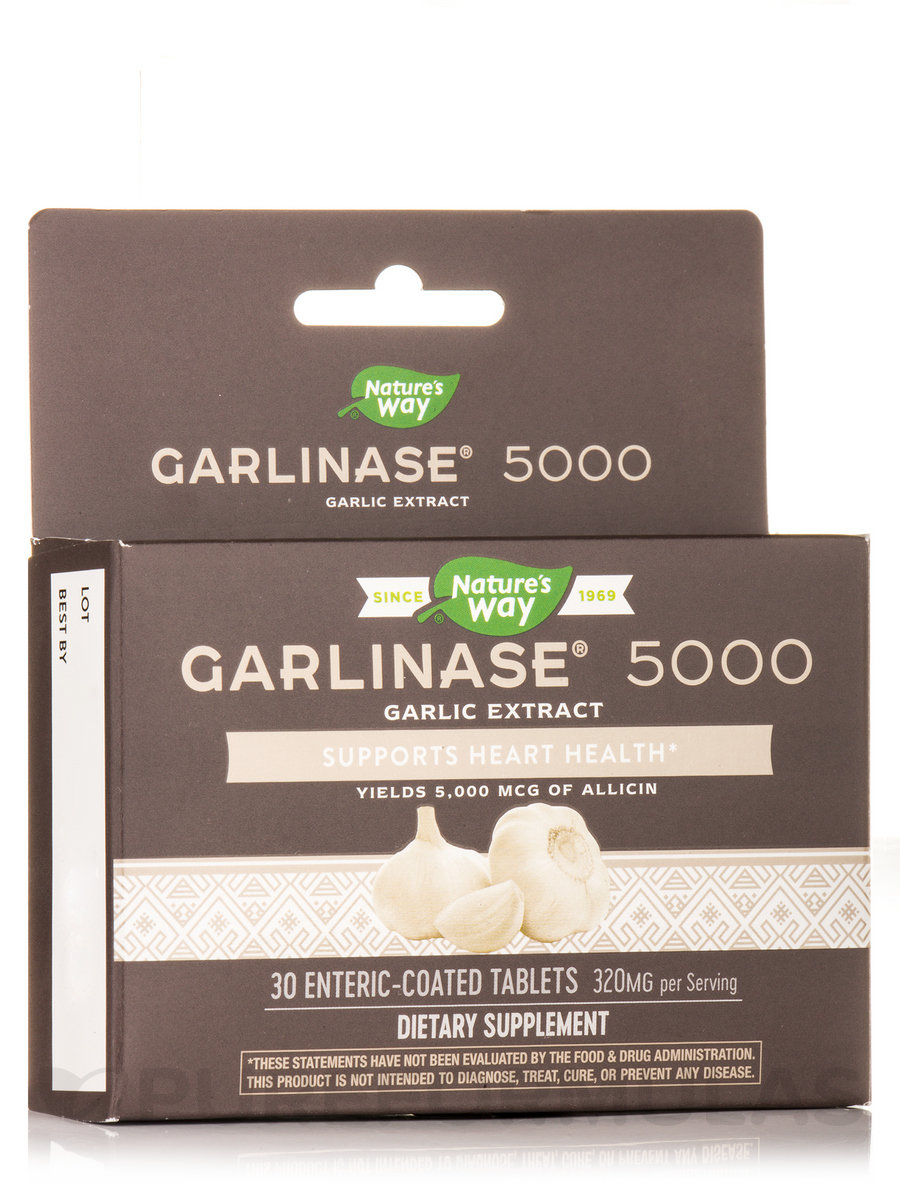 Garlinase® 5000 - 30 Enteric-Coated Tablets
