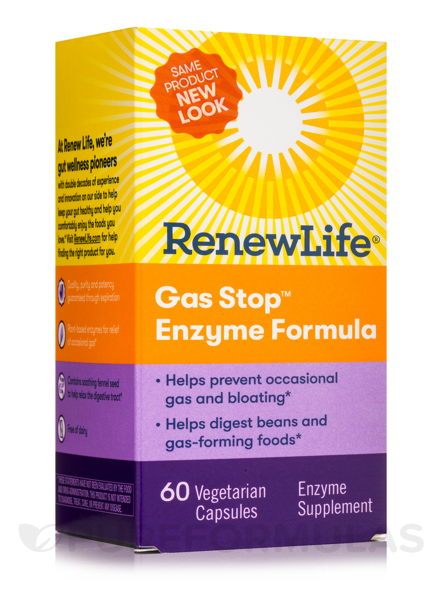 Gas Stop™ Enzyme Formula - 60 Vegetable Capsules