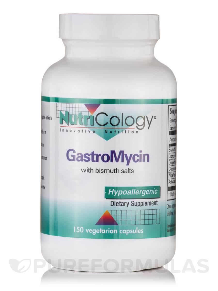 GastroMycin with Bismuth Salts - 150 Vegetarian Capsules
