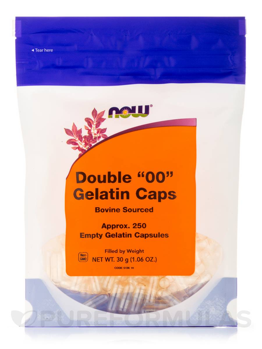 Double '00' Gelatin Caps - 250 Empty Capsules