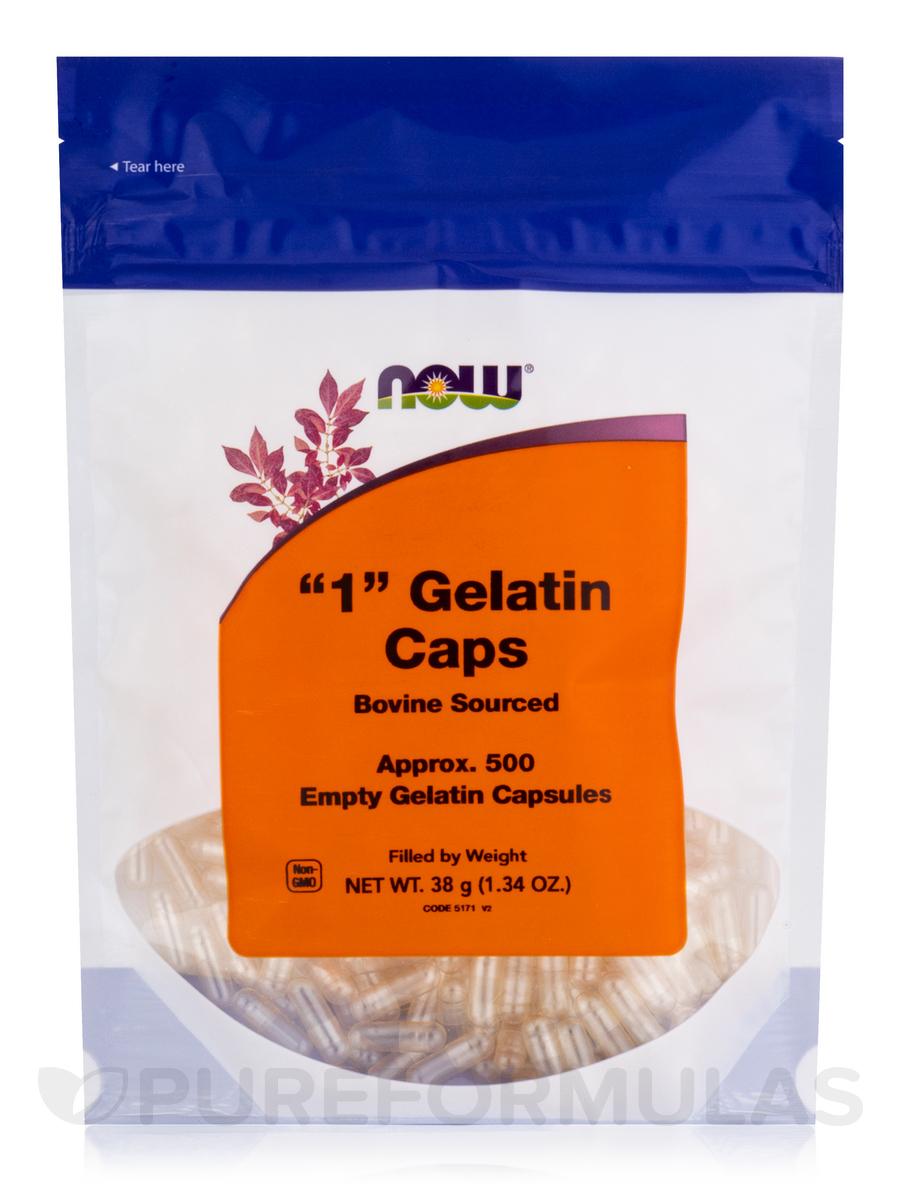 '1' Gelatin Caps - 500 Empty Capsules