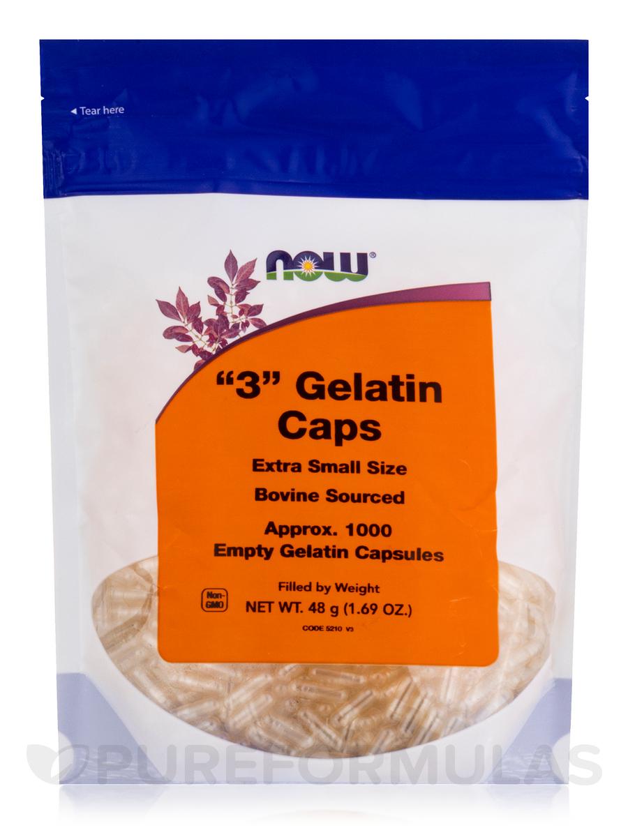 '3' Gelatin Caps (Bovine Sourced) - 1000 Empty Capsules