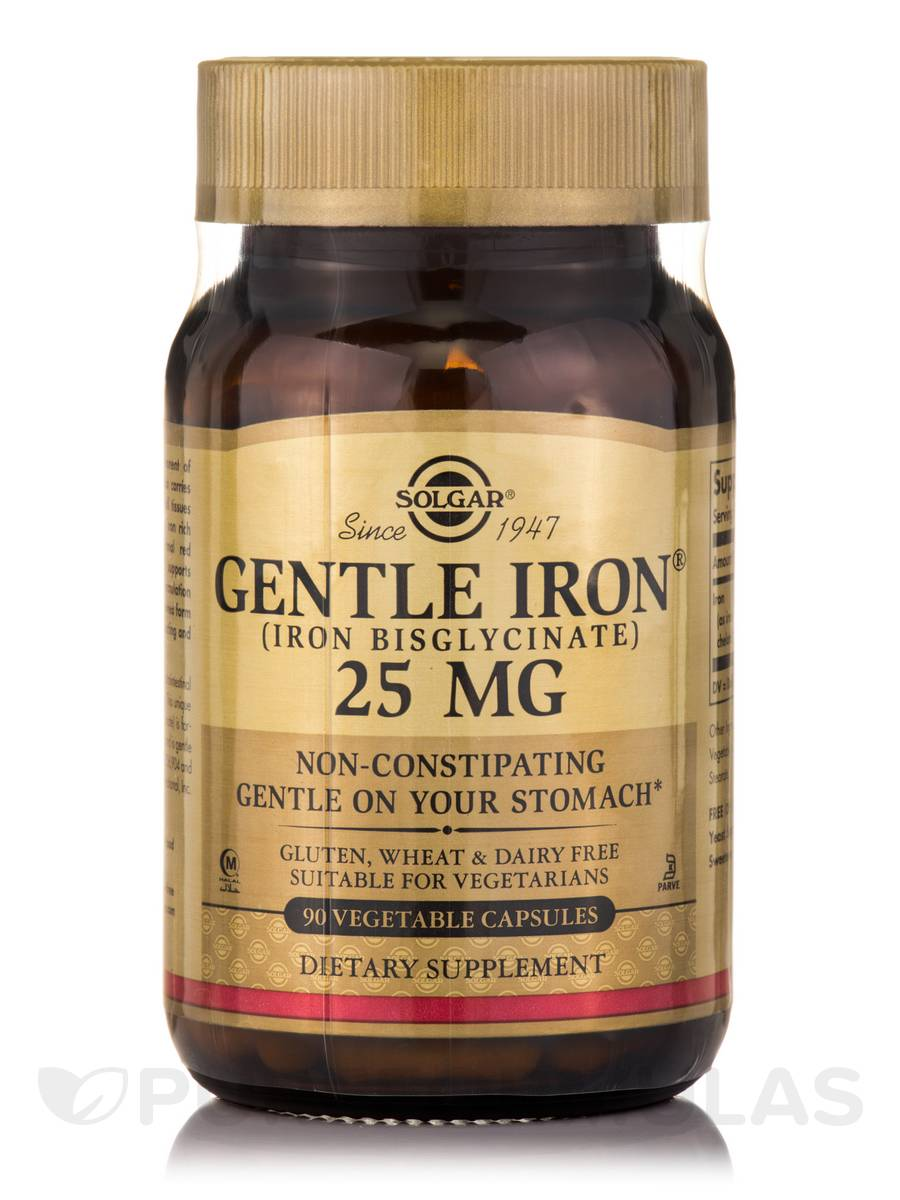 Gentle Iron® (Iron Bisglycinate) 25 mg - 90 Vegetable Capsules