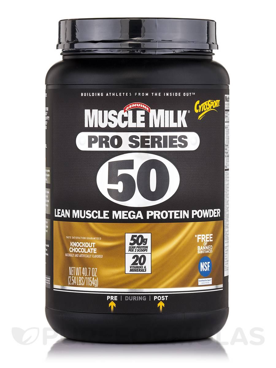 GF Muscle Milk Pro Series 50 Chocolate - 2.54 lbs (40.7 oz / 1154 Grams)