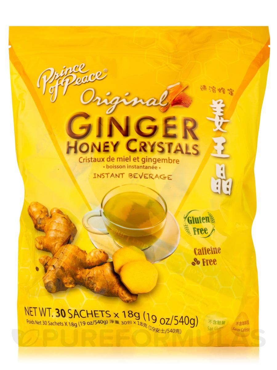 Ginger Honey Crystals - Box of 30 Sachets