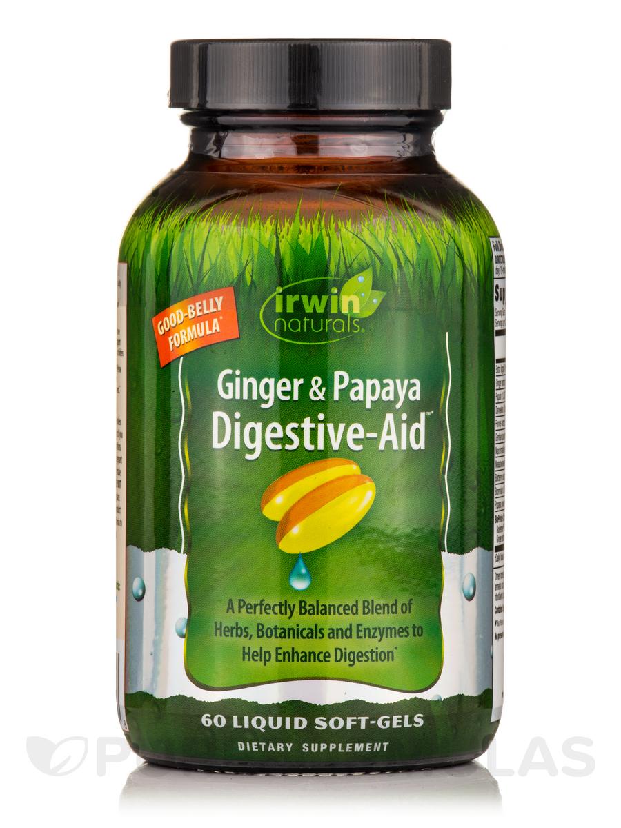 Ginger & Papaya Digestive-Aid™ - 60 Liquid Soft-Gels