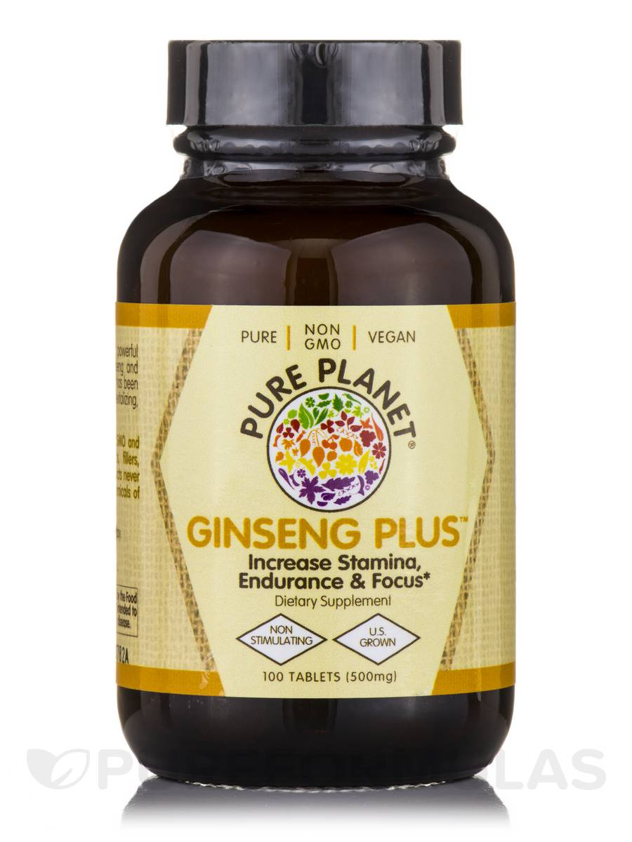 Ginseng Plus 500 mg - 100 Tablets
