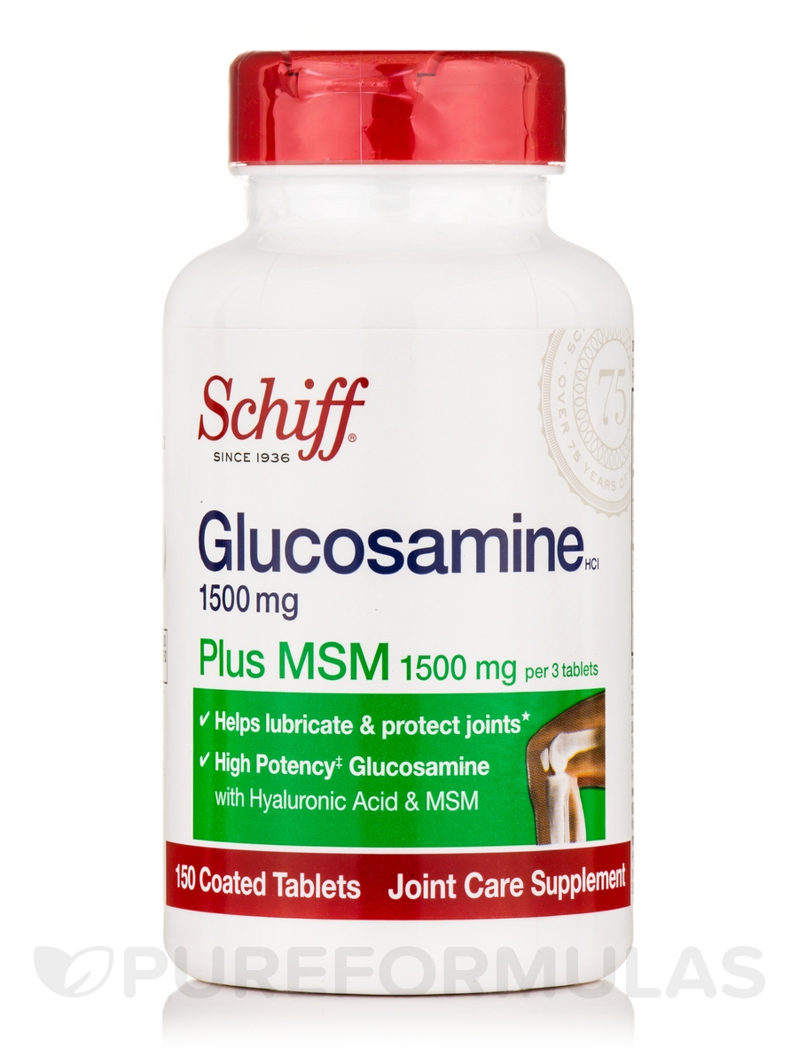 Glucosamine 1500 mg Plus MSM 1500 mg and Hyaluronic Acid - 150 Coated Tablets