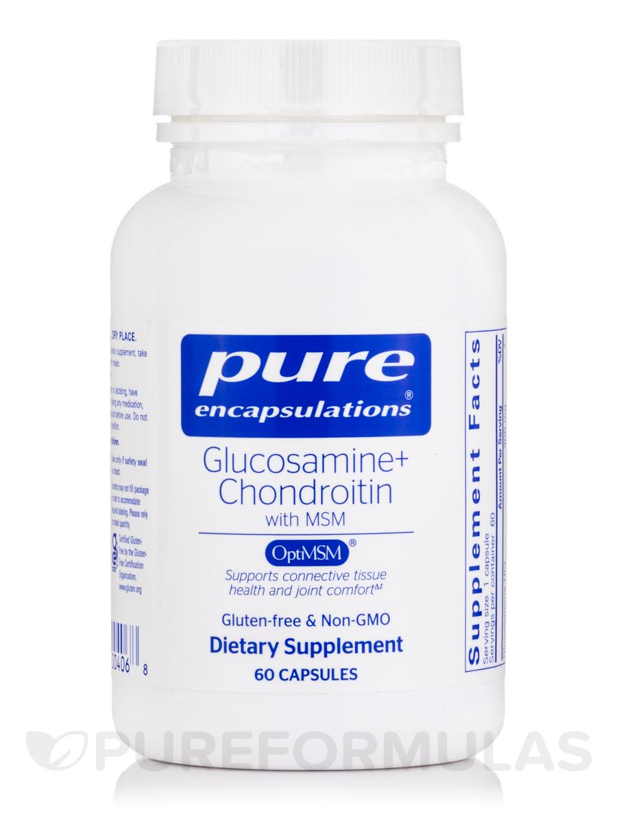 Glucosamine + Chondroitin with MSM - 60 Capsules