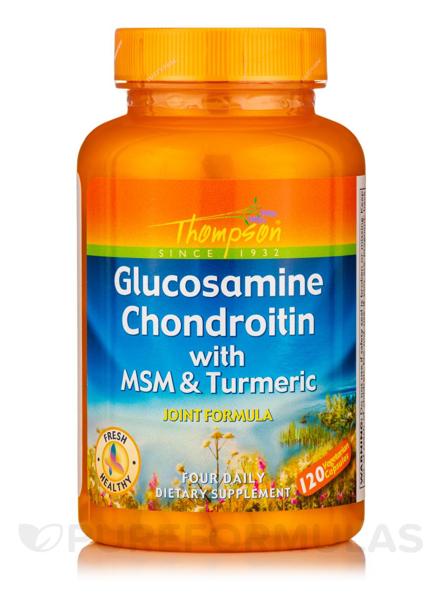Glucosamine & Chondroitin with MSM & Turmeric - 120 Vegetarian Capsules
