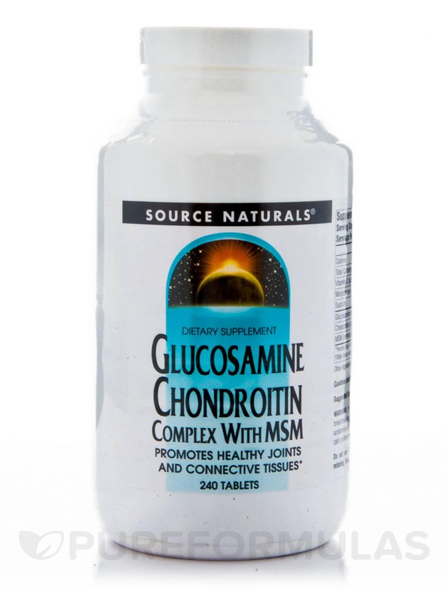 Glucosamine Chondroitn MSM - 240 Tablets