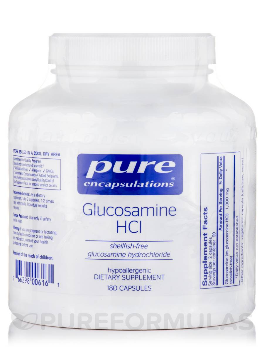 Glucosamine HCl (shellfish-free) - 180 Capsules