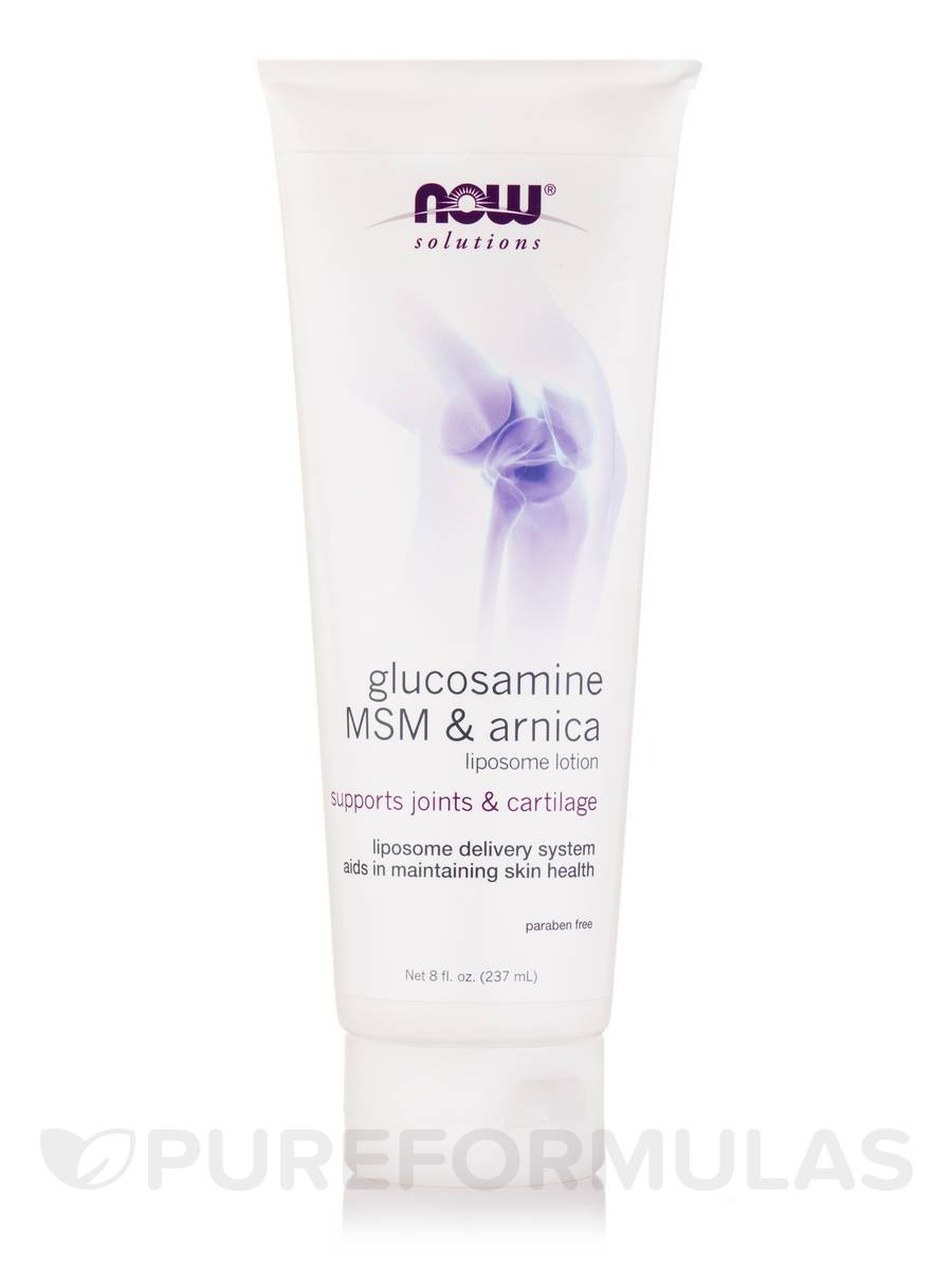 NOW® Solutions - Glucosamine, MSM & Arnica Liposome Lotion - 8 fl. oz (237 ml)