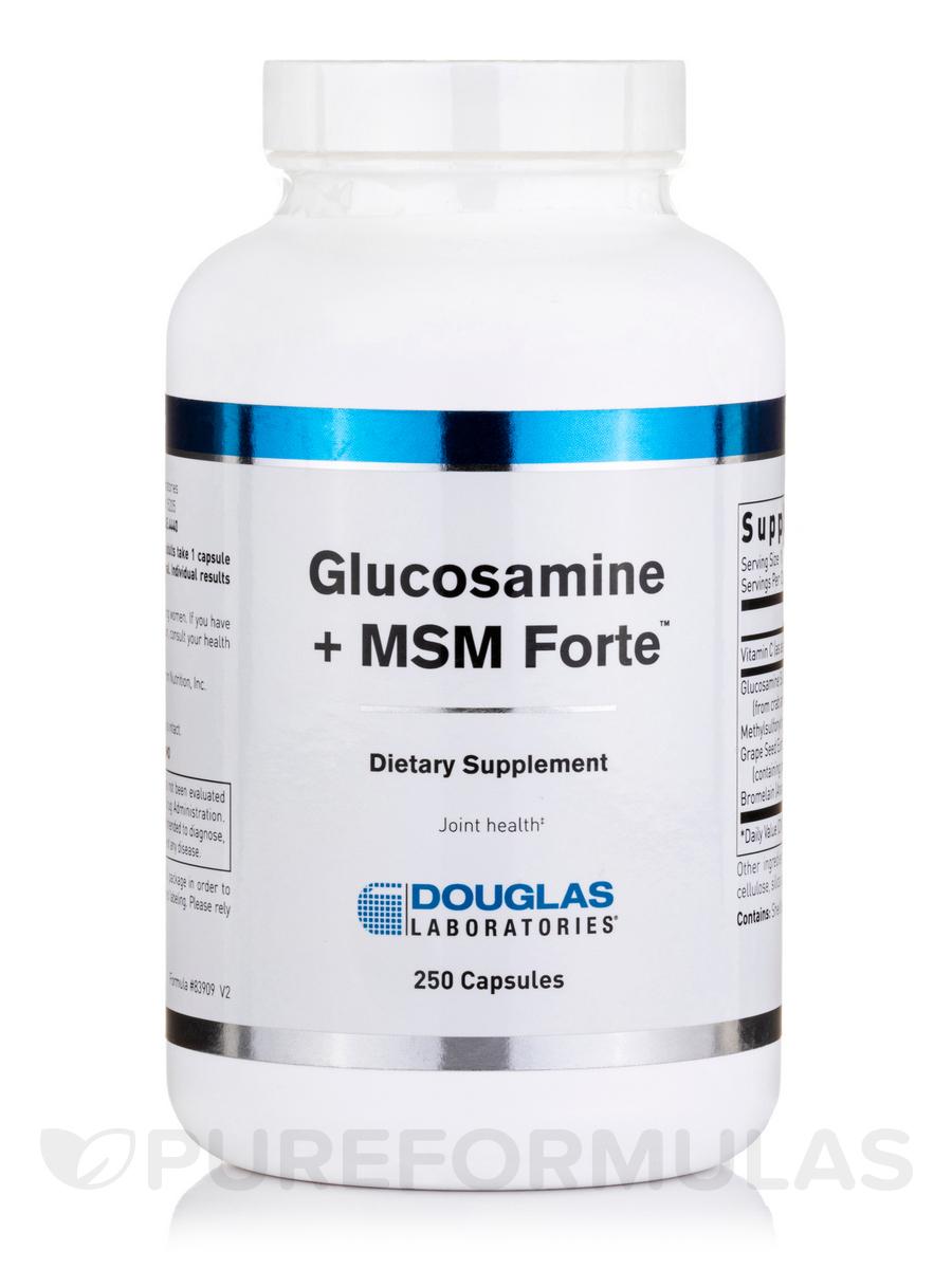 Glucosamine + MSM Forte - 250 Capsules