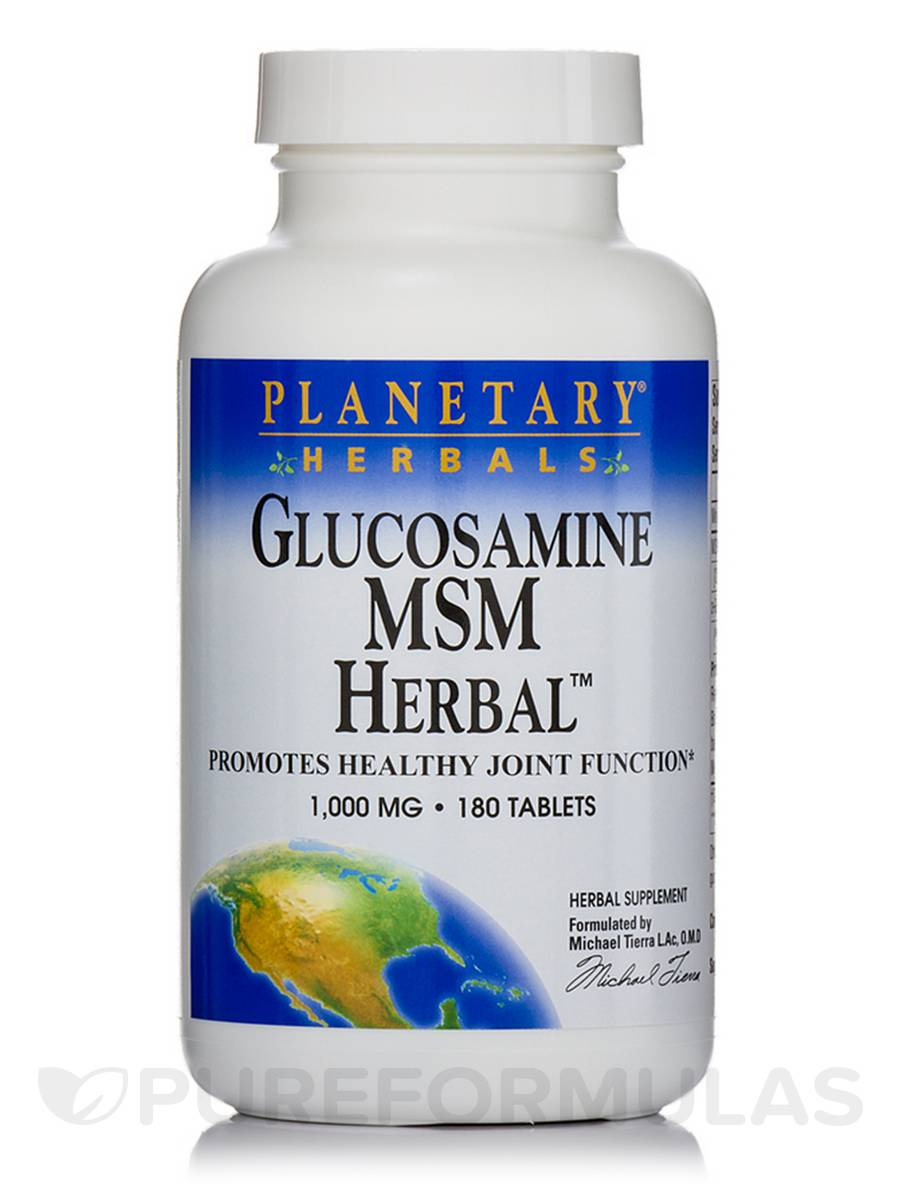 Glucosamine MSM Herbal 1000 mg - 180 Tablets
