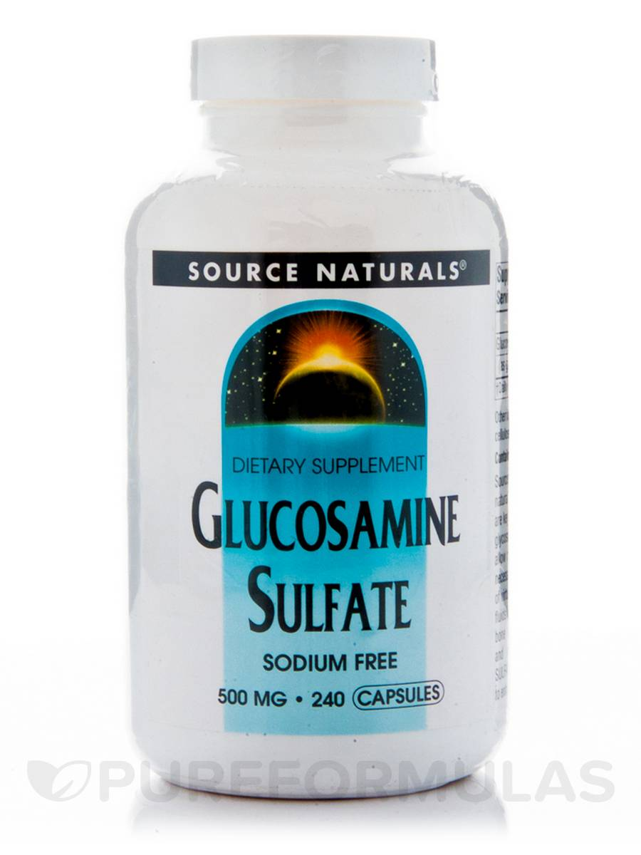 Glucosamine Sulfate 500 mg - 240 Capsules