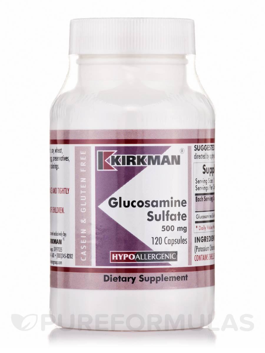 Glucosamine Sulfate 500 mg -Hypoallergenic - 120 Capsules