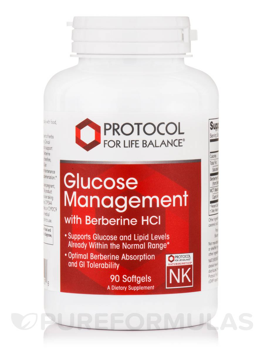 Glucose Management with Berberine HCL - 90 Softgels