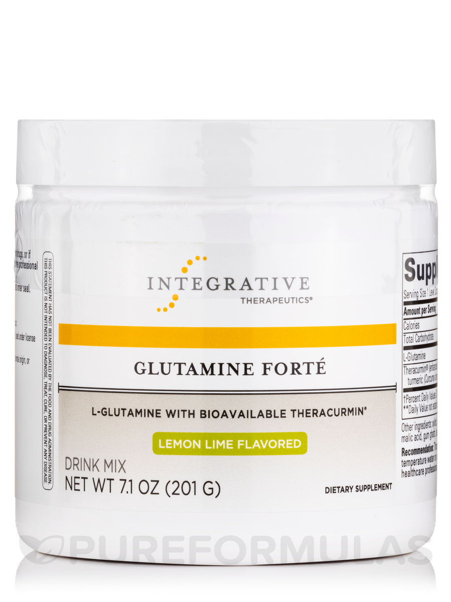 Glutamine Forte (Lemon Lime Flavor) - 7.1 oz (201 Grams)