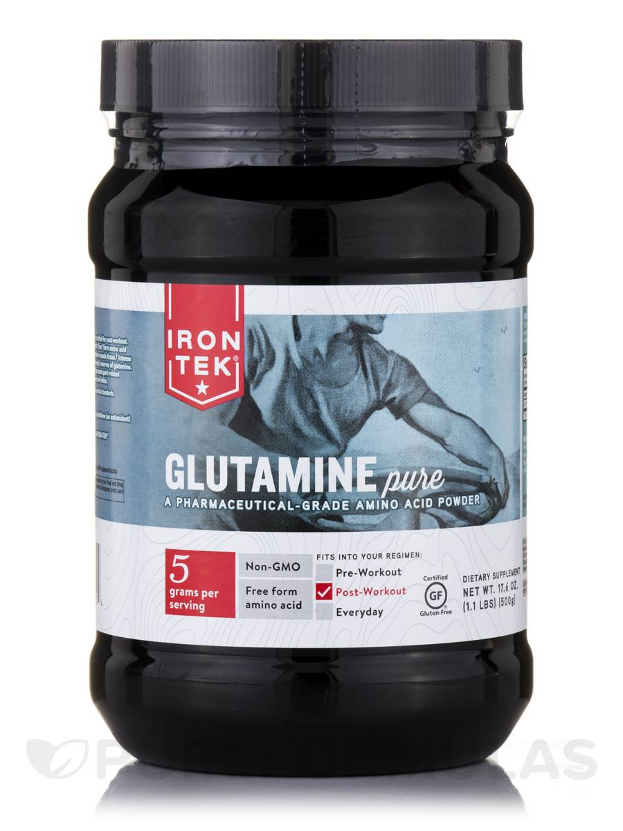Glutamine Pure Powder, Unflavored - 17.6 oz (500 Grams)