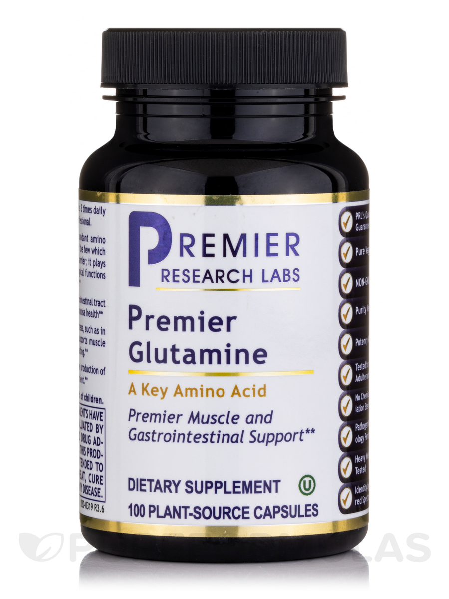 Premier Glutamine - 100 Vegetable Capsules