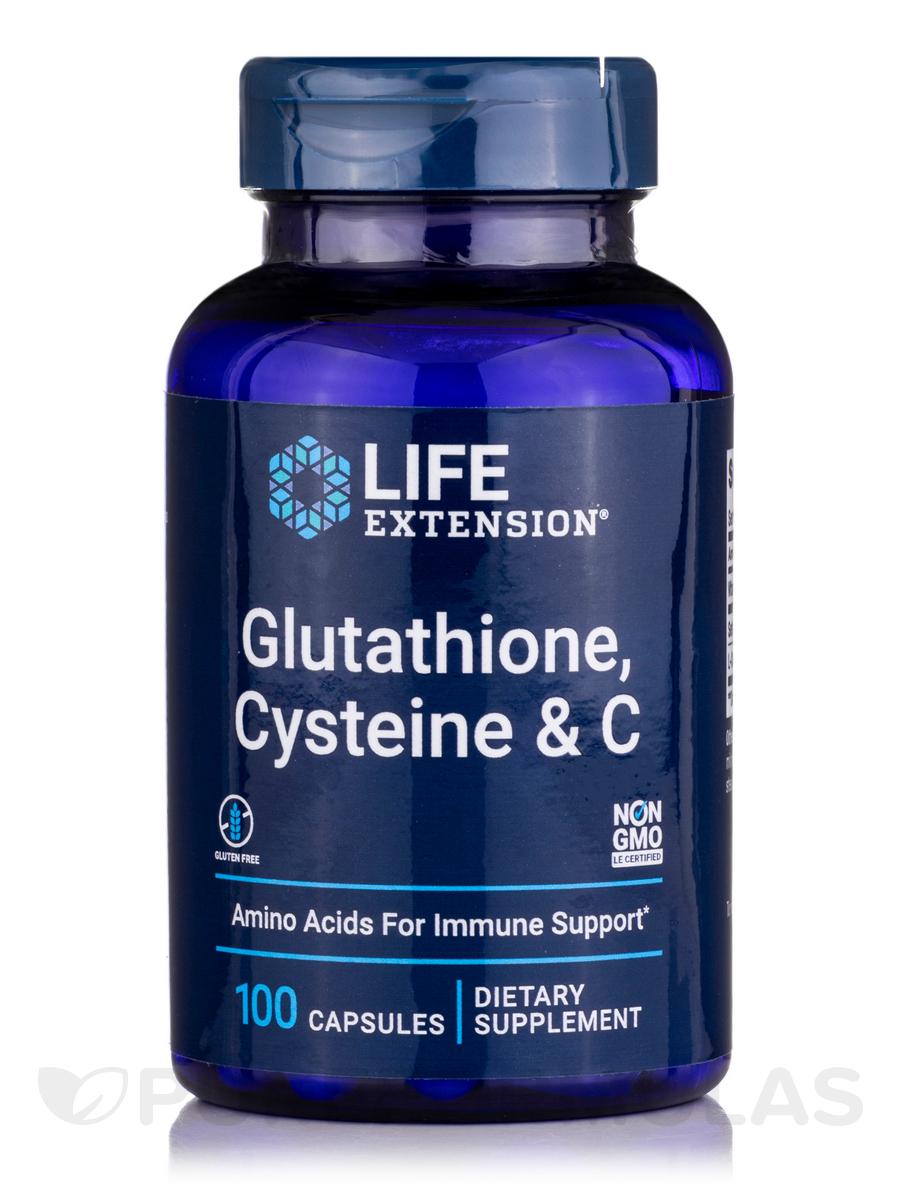 Glutathione, Cysteine & C - 100 Vegetarian Capsules