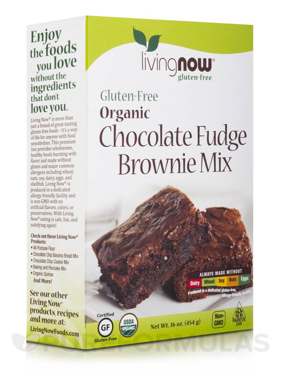LivingNow™ Gluten-Free Organic Chocolate Fudge Brownie Mix - 16 oz (454 Grams)