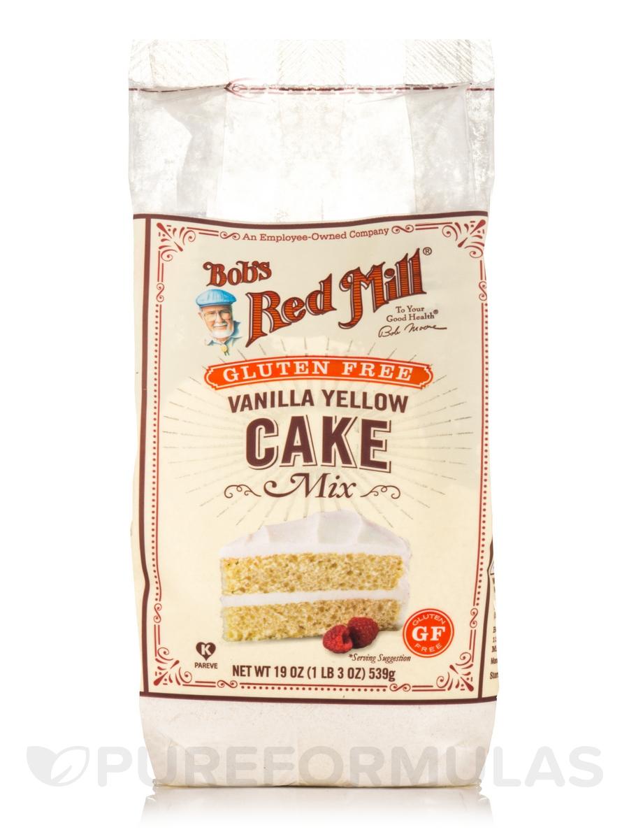 Gluten Free Vanilla Yelllow Cake Mix - 19 oz (539 Grams)