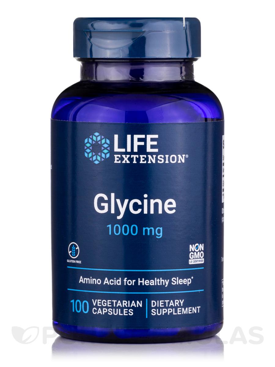 Glycine 1000 mg - 100 Vegetarian Capsules